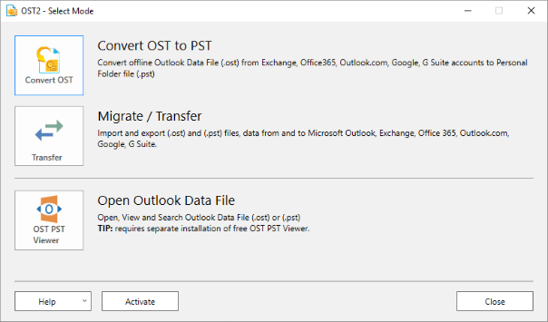 Click to view OST2 PST Converter 2.11 screenshot