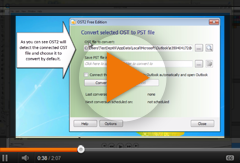 Convert connected OST file to PST file