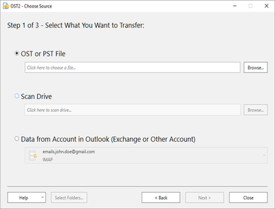 Import OST file into Microsoft Outlook using OST2 software