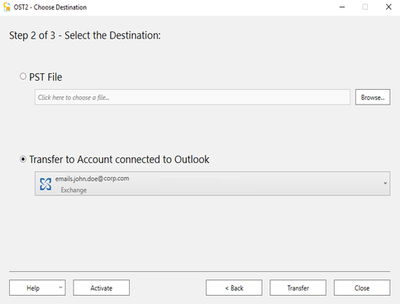 Import PST file data into Office 365 with OST2 software