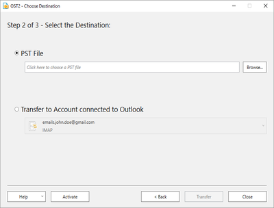 Import PST file data into Microsoft Outlook with Free OST2