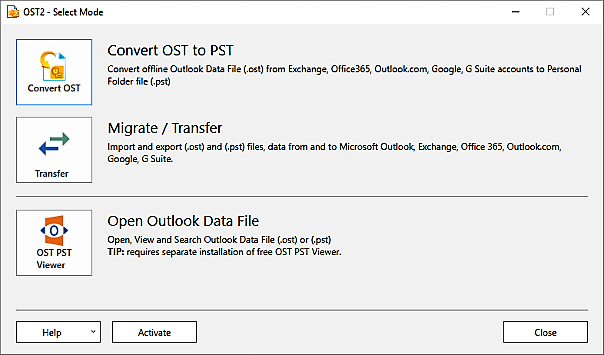 Import OST file into Outlook 2016